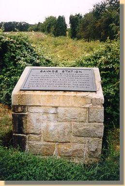 Savage's Station Marker