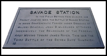 Savage's Station Marker Plaque