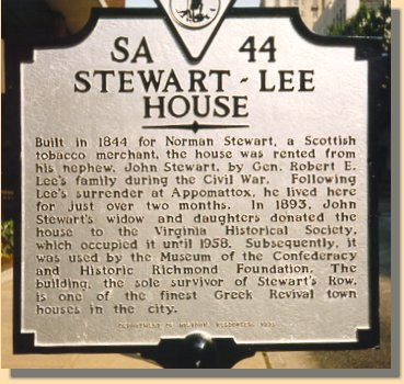Sign in front of Lee's House