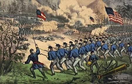 The battle at Cedar Mountain, Aug. 9th, 1862.